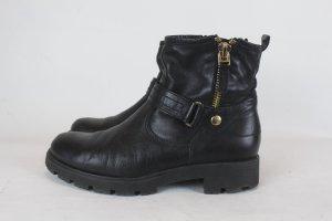 UNISA Boots Gr. 40 schwarz Leder (18/6/MF/E)