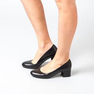 Unisa Damen Pumps *getragen* schwarz Glattleder