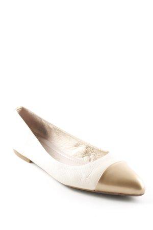 Unisa faltbare Ballerinas creme-goldfarben Elegant