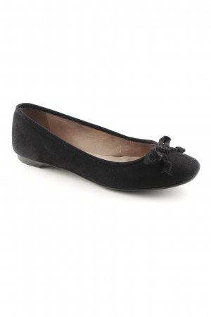 Unisa faltbare Ballerinas schwarz Business-Look