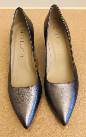 Unisa Pointed Toe Pumps bronze-colored leather