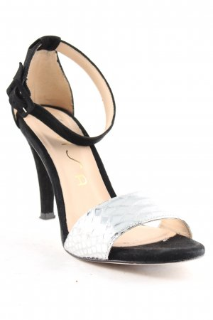 Unisa High Heel Sandaletten schwarz-silberfarben