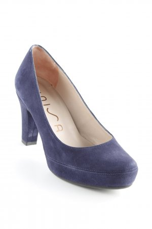 Unisa High Heels dunkelblau Business-Look
