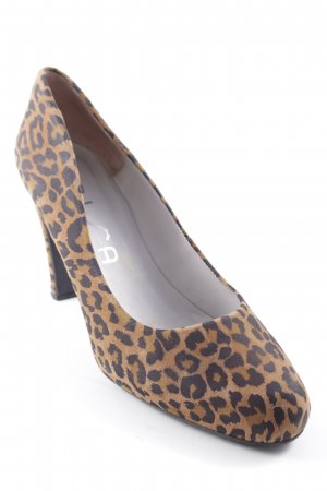 Unisa High Heels ocher-black animal pattern '70s style