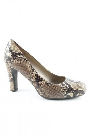 Unisa High-Front Pumps animal pattern college style