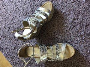 Unisa Platform High-Heeled Sandal silver-colored