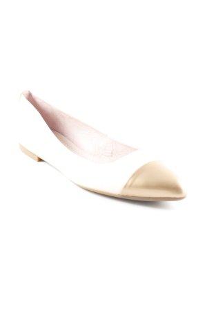 Unisa Lackballerinas creme-goldfarben Elegant