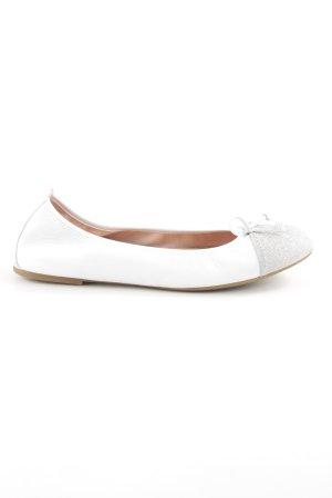 Unisa Lackballerinas weiß-silberfarben Elegant