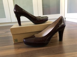 Unisa Platform Pumps bordeaux leather