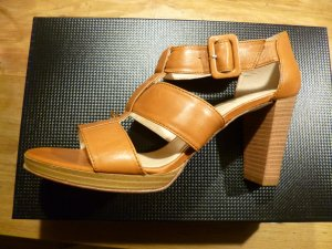 Unisa High Heel Sandal cognac-coloured leather