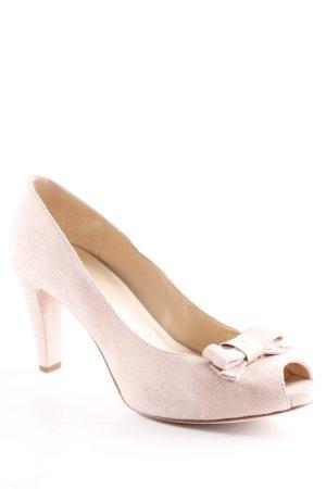 Unisa Peep Toe Pumps dusky pink classic style