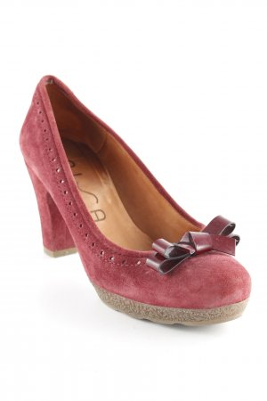 Unisa Peeptoe Pumps dunkelrot Casual-Look