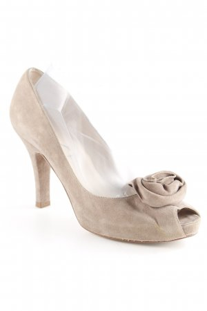 Unisa Peep Toe Pumps grey brown elegant