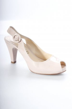Unisa Peeptoe Pumps nude Lack-Optik
