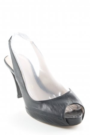 Unisa Peep Toe Pumps black business style