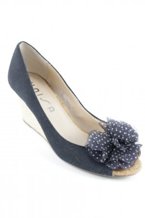 Unisa Peep Toe Pumps black-oatmeal elegant