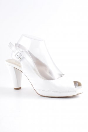 Unisa Peeptoe Pumps weiß Elegant