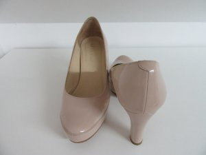 Unisa Platform Pumps nude leather