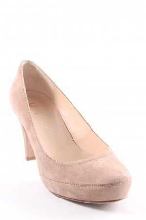 Unisa Plateau-Pumps beige Business-Look