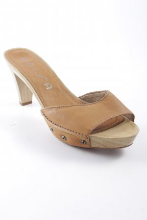 Unisa Platform High-Heeled Sandal beige-camel safari look