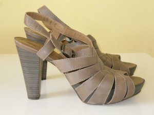 Unisa High-Heeled Sandals grey brown leather