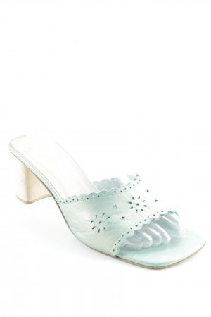 Unisa Platform High-Heeled Sandal turquoise-cream beach look