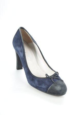Unisa Pumps dunkelblau-schwarz klassischer Stil