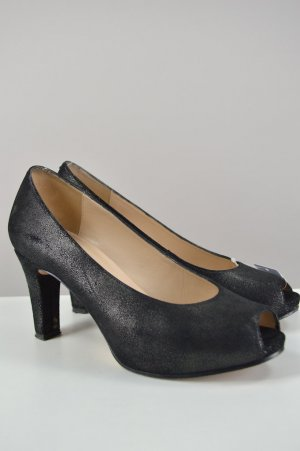 Unisa Peep Toe Pumps taupe-black leather