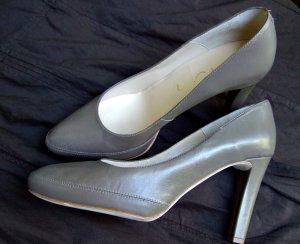 UNISA Pumps Leder Heels *neu* khaki - grau 41