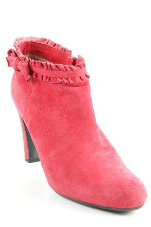 Unisa Reißverschluss-Stiefeletten rot Romantik-Look