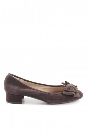 Unisa Strappy Ballerinas brown business style