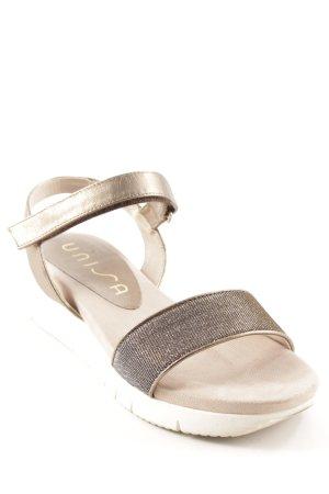 Unisa Sandalen met bandjes antraciet-licht beige casual uitstraling