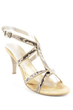 Unisa Riemchen-Sandalen goldfarben-beige Casual-Look