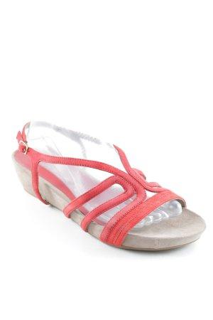 Unisa Riemchen-Sandalen rot-beige Casual-Look