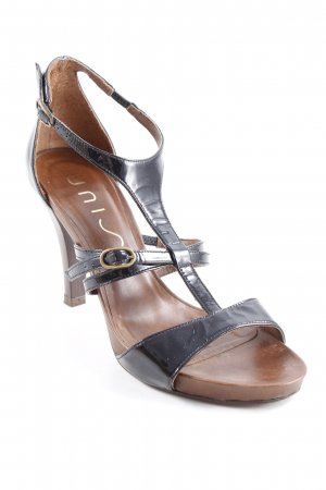 Unisa Sandalen met bandjes zwart-bruin elegant