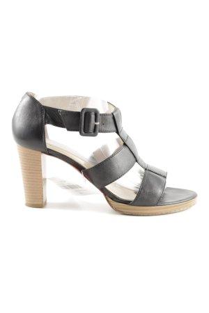 Unisa Riemchen-Sandaletten schwarz Business-Look
