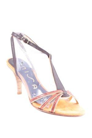 Unisa Riemchen-Sandaletten sandbraun-dunkelbraun extravaganter Stil