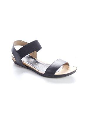 Unisa Riemchen-Sandaletten schwarz-beige schlichter Stil