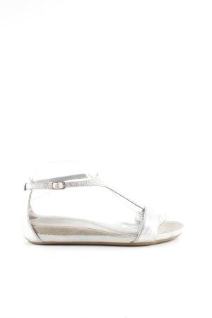 Unisa Riemchen-Sandaletten silberfarben Casual-Look