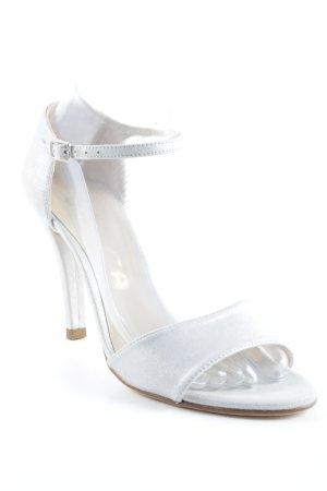 Unisa Strapped High-Heeled Sandals silver-colored elegant