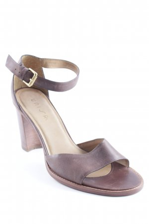 Unisa Strapped pumps dark brown casual look
