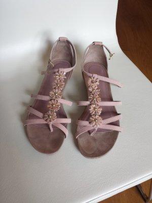 Unisa Riemchensandalen aus Leder in rosa Größe 39