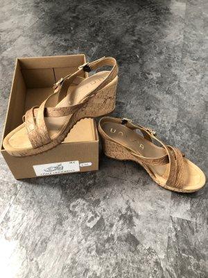 Unisa Sandales à plateforme chameau-beige