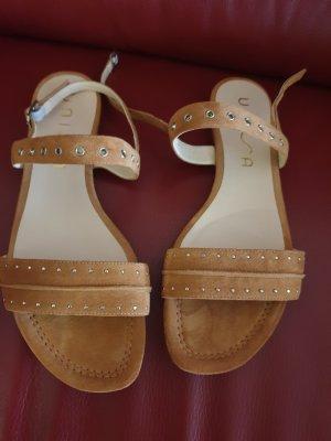 Unisa Sandalo con cinturino e tacco alto sabbia-marrone chiaro