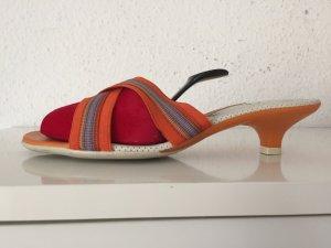 Unisa Sandalen Gr.36 Orange Pantoletten Sandaletten Pumps Pumpsabsatz kleiner
