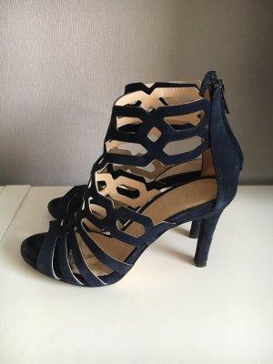 Unisa Sandalen met bandjes en hoge hakken donkerblauw