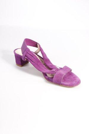 Unisa High-Heeled Sandals dark violet suede