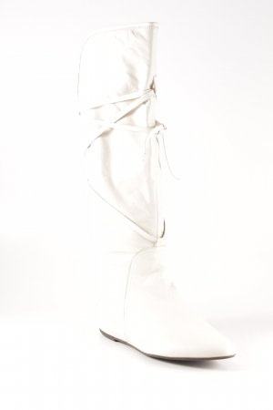 Unisa Jackboots natural white casual look