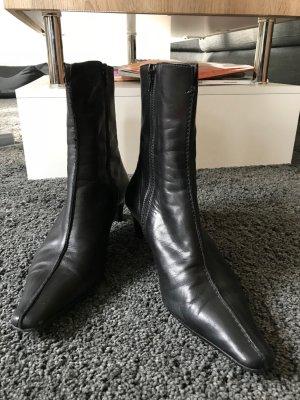 Unisa - Schmalgeschnittene Stiefelette  (Leder schwarz)