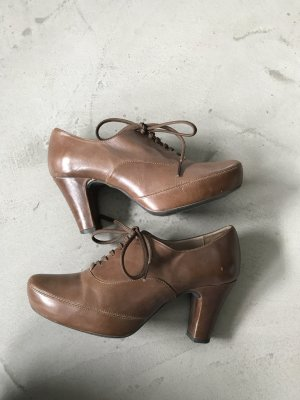 Unisa Tacones con cordones marrón claro-marrón